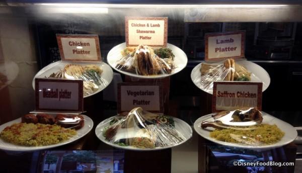 Tangierine Cafe entree display