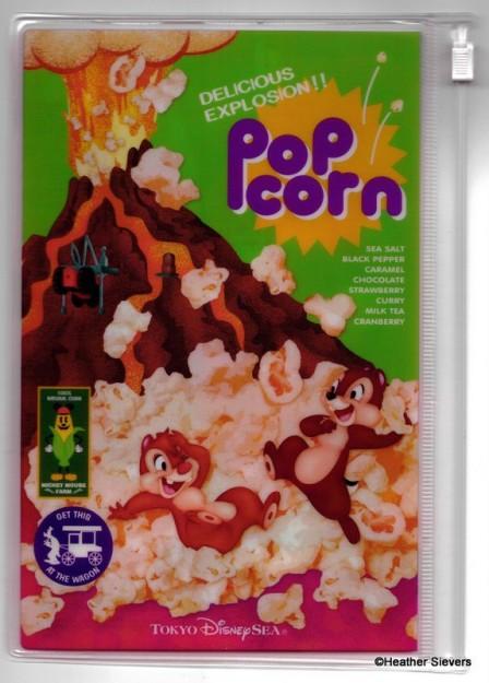 Popcorn Themed Zipper Pouch