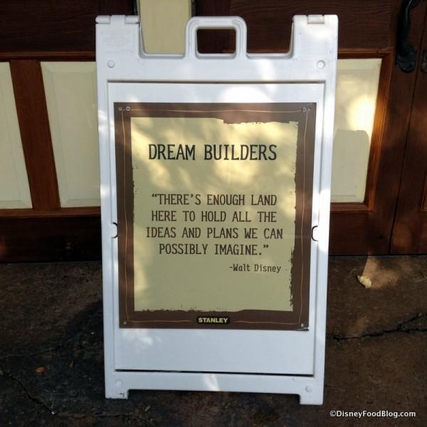 Dream Builders sign