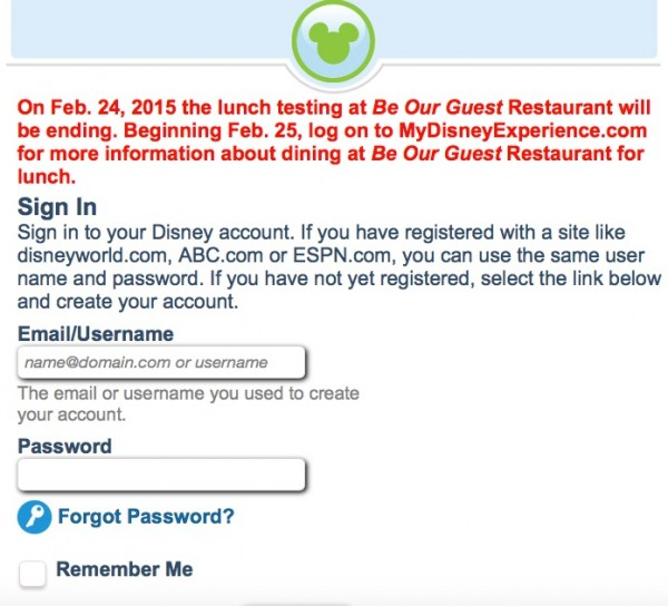 Be Our Guest Restaurant Lunch FastPass Testing Will Be Ending Soon