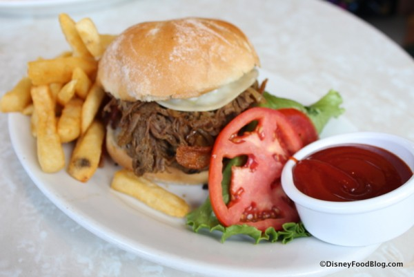 Beef Brisket Onion Burger