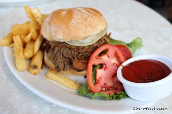 Beef Brisket Onion Burger