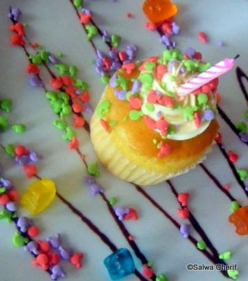 Birthday Cupcake at Akershus Royal Banquet Hall