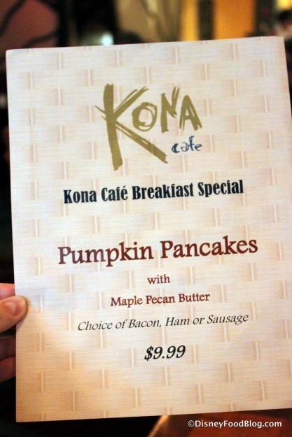 Breakfast Special -- Pumpkin Pancakes!!