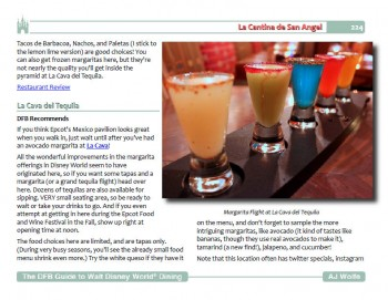 DFB Guide to Walt Disney World Dining Sample Page