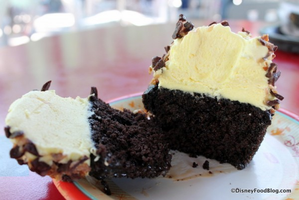 Inside the cupcake