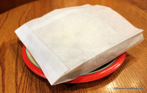 Pastry in bag
