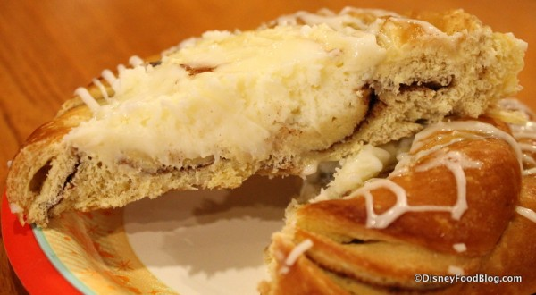 Cheese Danish cross section