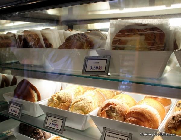 Danish Pastries in bakery case