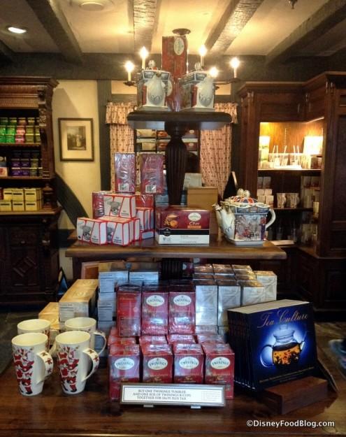 Display at The Tea Caddy