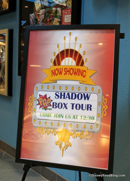 Shadow Box Tour sign