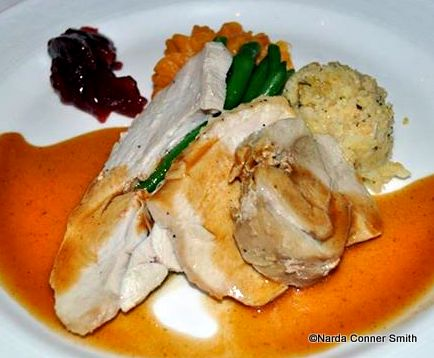 Turkey and the fixings on Disney Fantasy