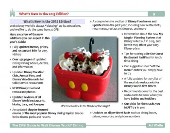 What's New Sample Page from our new 2015 Dining Guide!
