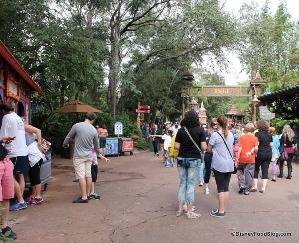 Location shot of Beastly Kiosk (left)
