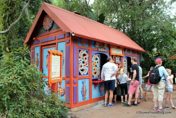 Beastly Kiosk outside of Asia gates from Discovery Island