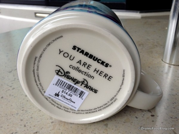 Bottom of Epcot mug