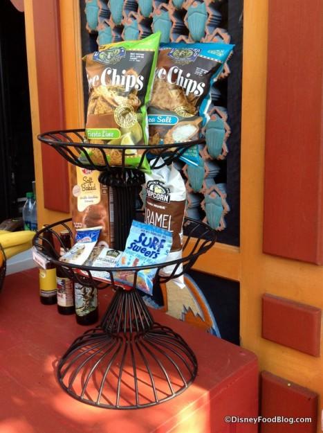Packaged snacks at Allergy-friendly kiosk