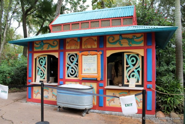 Gardens Kiosk temporarily serving Flame Tree items