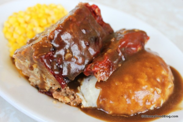 Meatloaf Meal at The Plaza Restaurant