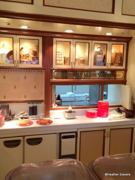 Waffle Preparation Area