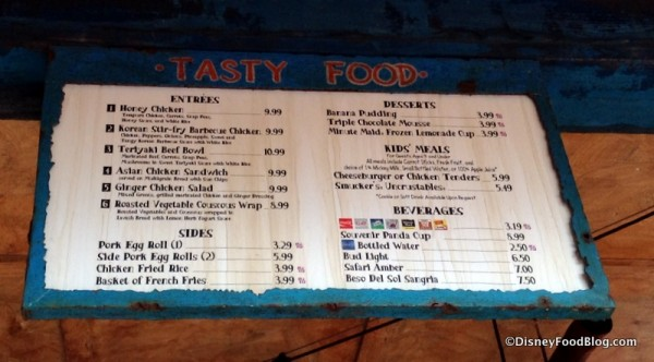 Local Foods Cafe menu