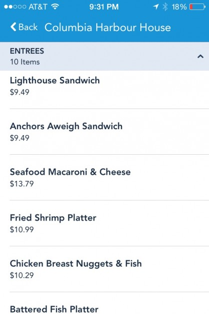 Check Out the Columbia Harbor House Menu Directly On Your Phone