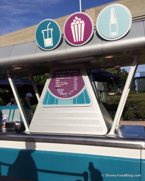 Gourmet Popcorn Cart in Epcot