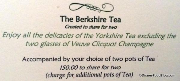Berkshire Tea package