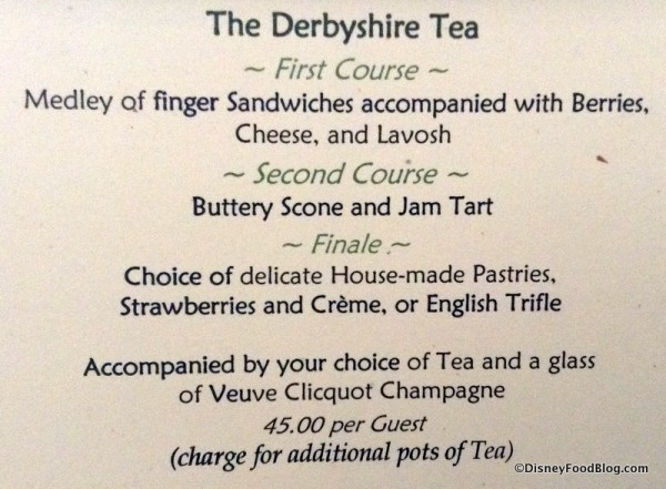Derbyshire Tea package