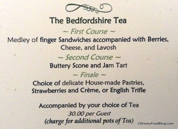 Bedfordshire Tea package