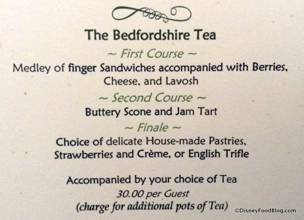 Bedfordshire Tea package