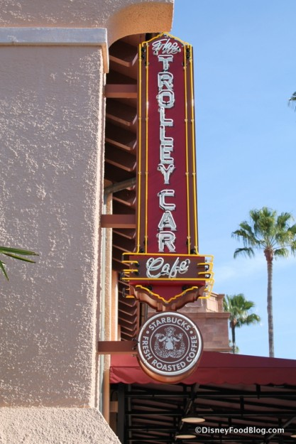 Trolley Car Cafe sign