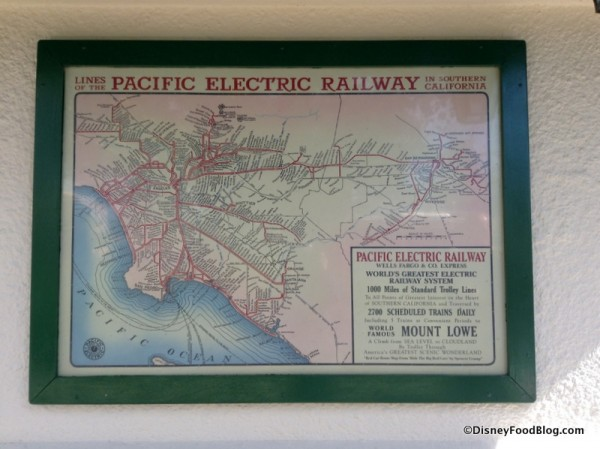 Pacific Electric Railway map outside
