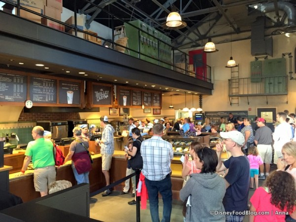 Lines at Trolley Car Cafe