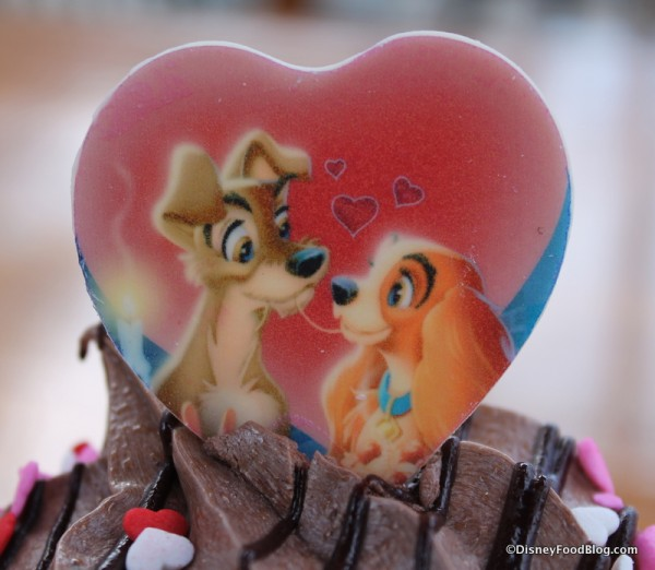 Lady and the Tramp Cupcake at Disney's Hollywood Studios