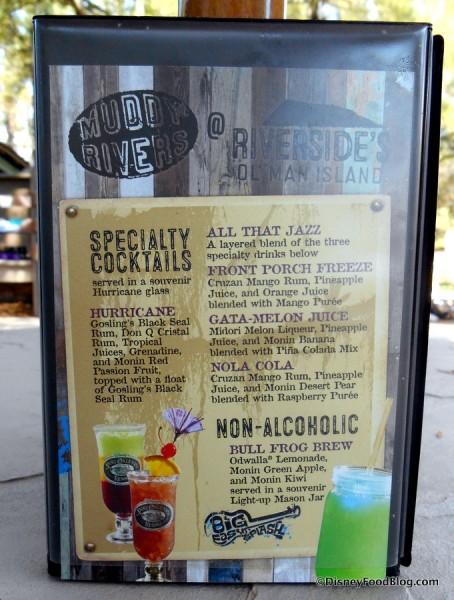 Tabletop menu