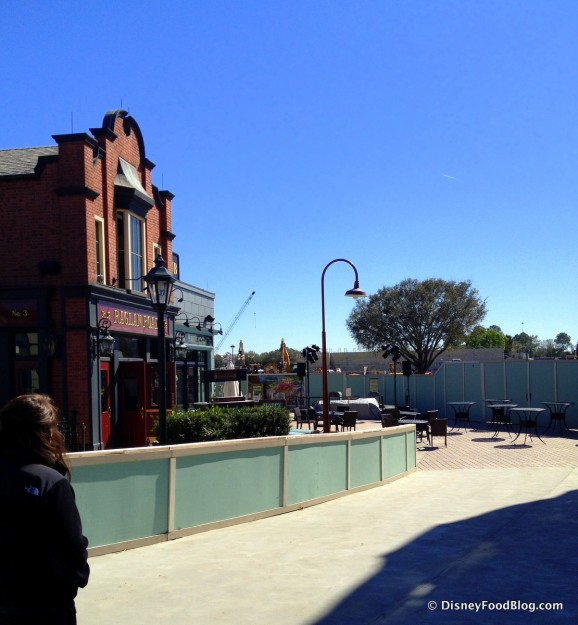 Raglan Road -- Outside, with Construction Walls