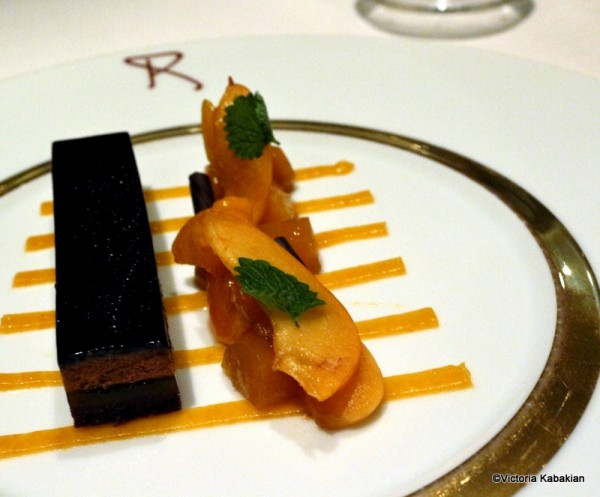 Chocolate and apricot
