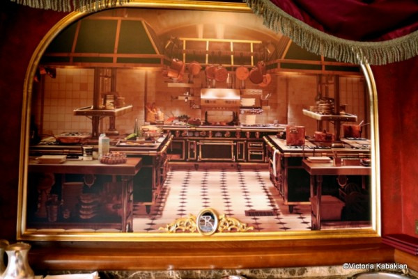 The painting of Gusteau's kitchen