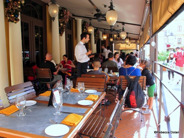 Enjoy the chance to dine full-service outside at Epcot
