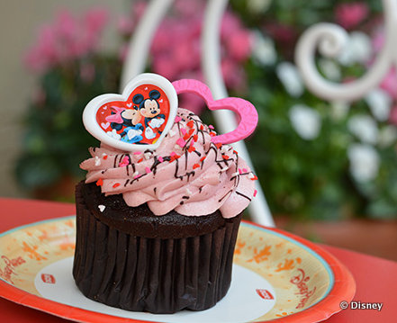 Chocolate Raspberry Cupcake at Magic Kingdom's Main Street Bakery