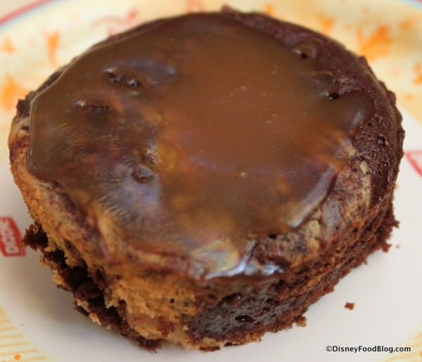 Warm Peanut Butter Brownie with Warm Caramel Sauce