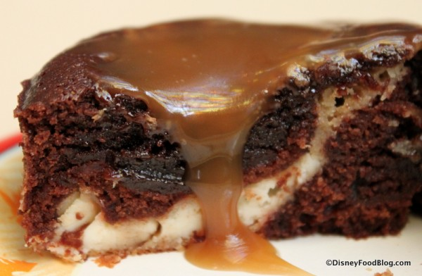 Warm Peanut Butter Brownie -- Cross Section