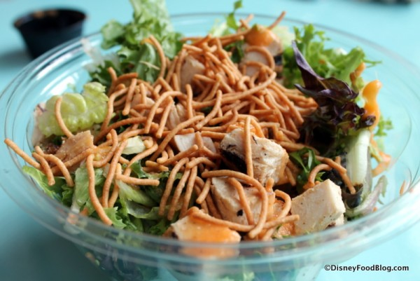 Ginger Salad with accompanying toppings