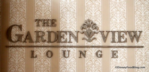 Garden View Lounge sign