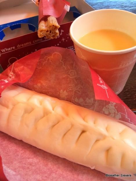 Goyza Sausage Bun, Corn Soup & a Mickey Churro