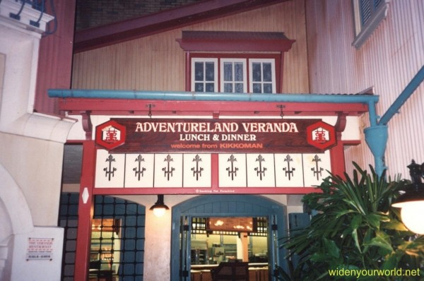 Old Adventureland Terrace Sign, Courtesy of