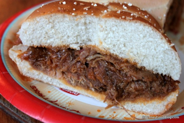 Barbecued Pork Sandwich -- Cross Section