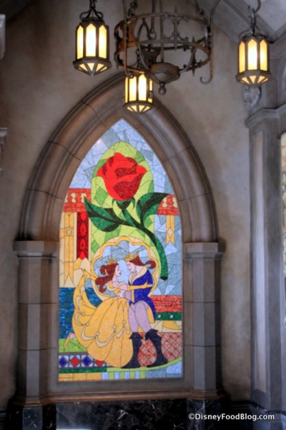 Belle and Prince Stained Glass Window