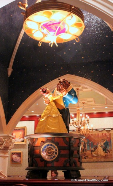 Belle and Beast Life Size Music Box at Be Our Guest Restaurant